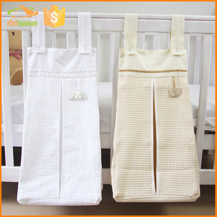 EFTSBY643 Nursery organizer diaper stacker baby crib playard hanging storage bag toy diapers caddy for baby