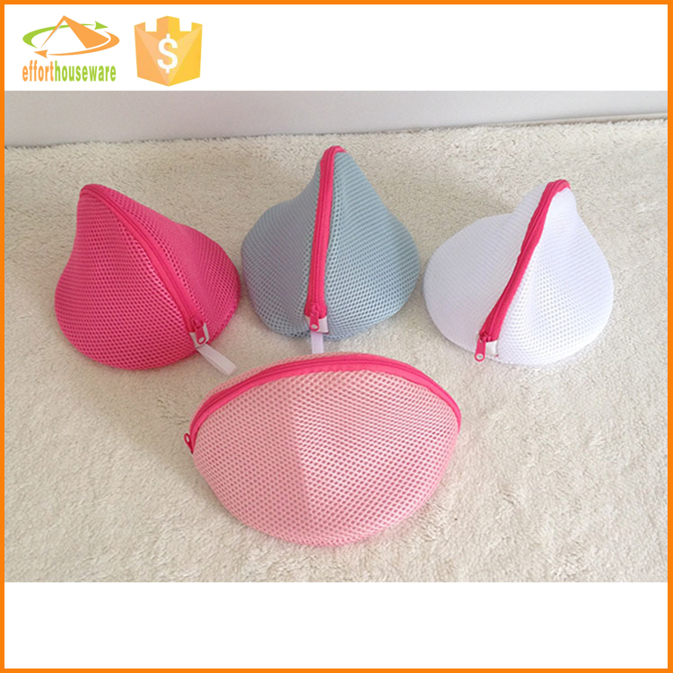 EFTSBY568 Different color zipper Bra disposable wholesale mesh laundry bag