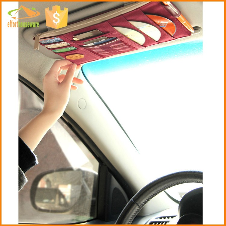 EFTSBY489 polyester folding car trunk bag organizer behind the mirror