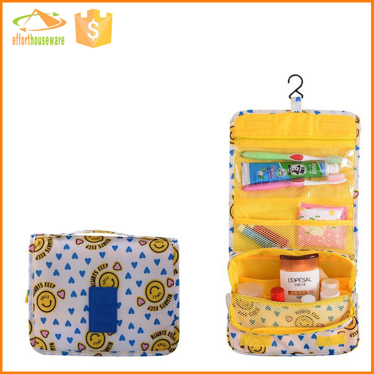 EFTSBY493E Yellow bright color Multifunctional contents silicone cosmetic bag