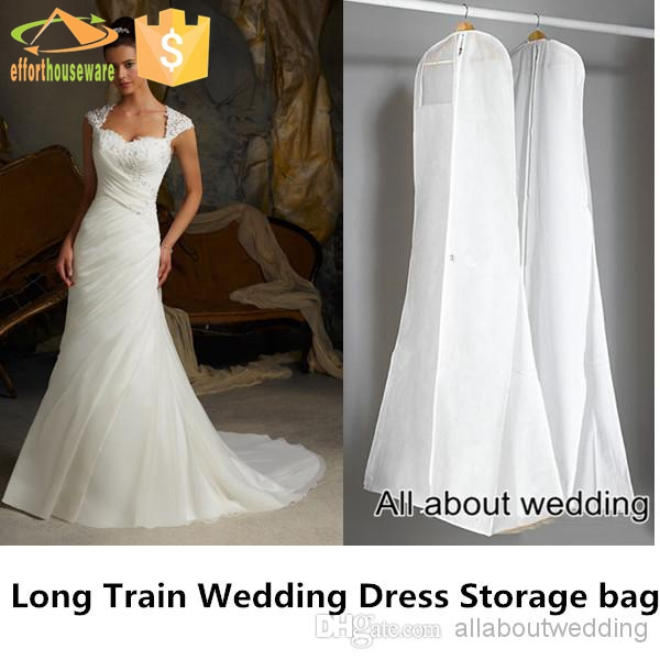 EFTSBY202 Long luxuriant wedding dress cover garment bag wholesale