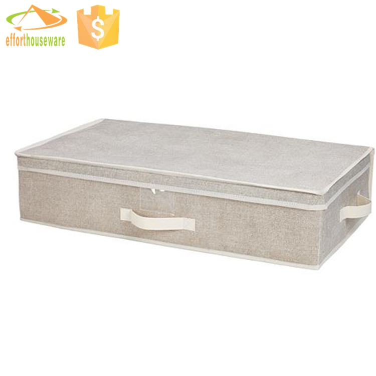 EFTSBY244 Customer with zipper and handles Underbed Blanket Storage Bag