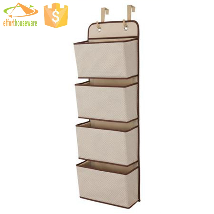 EFTSBY287 4 large pockets best selling fabric hanging hanger Closet organizer