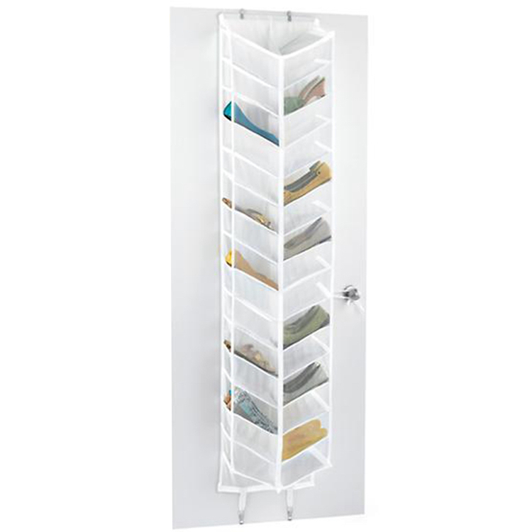 EFTSBY168 foldable Transparent Polyester Overdoor wall shoe organizer