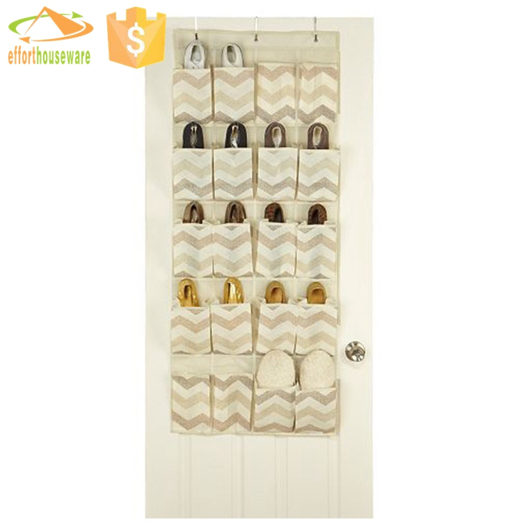 EFTSBY155 Printed fabric hanging closet bag organizer