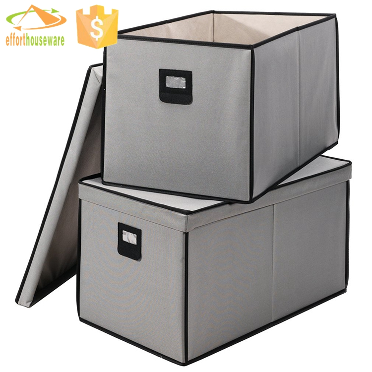 EFTSBY012 With Name Card Nonwoven fabric storage box foldable