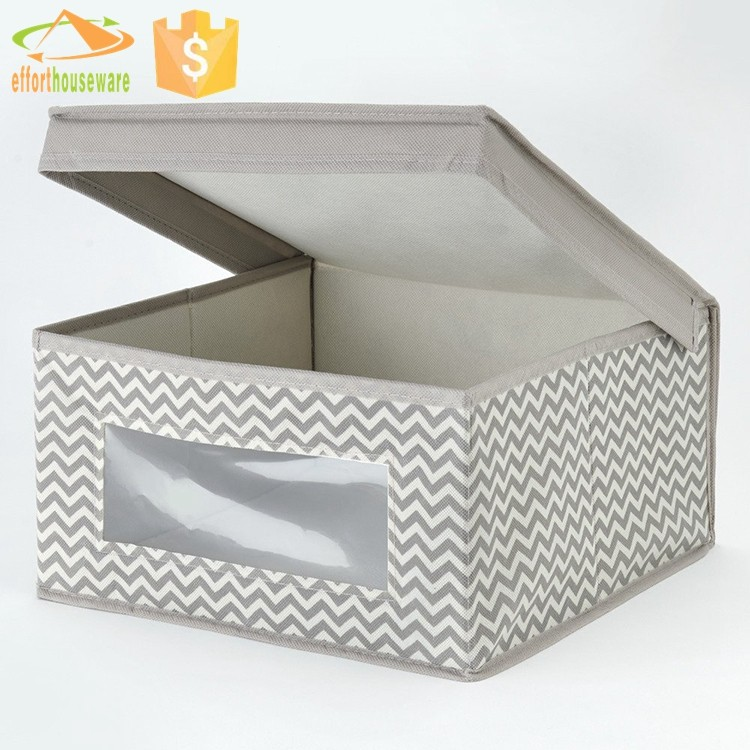 EFTSBY010 With window Custom Nonwoven fabric Foldable plastic storage box