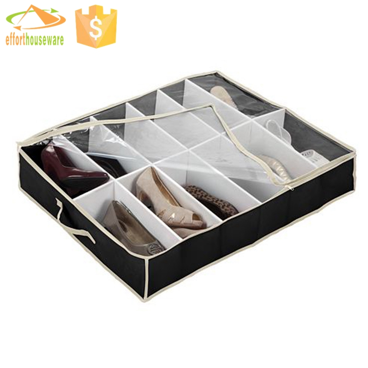 EFTSBY265 12 dividers drawer underbed folding shoe storage box