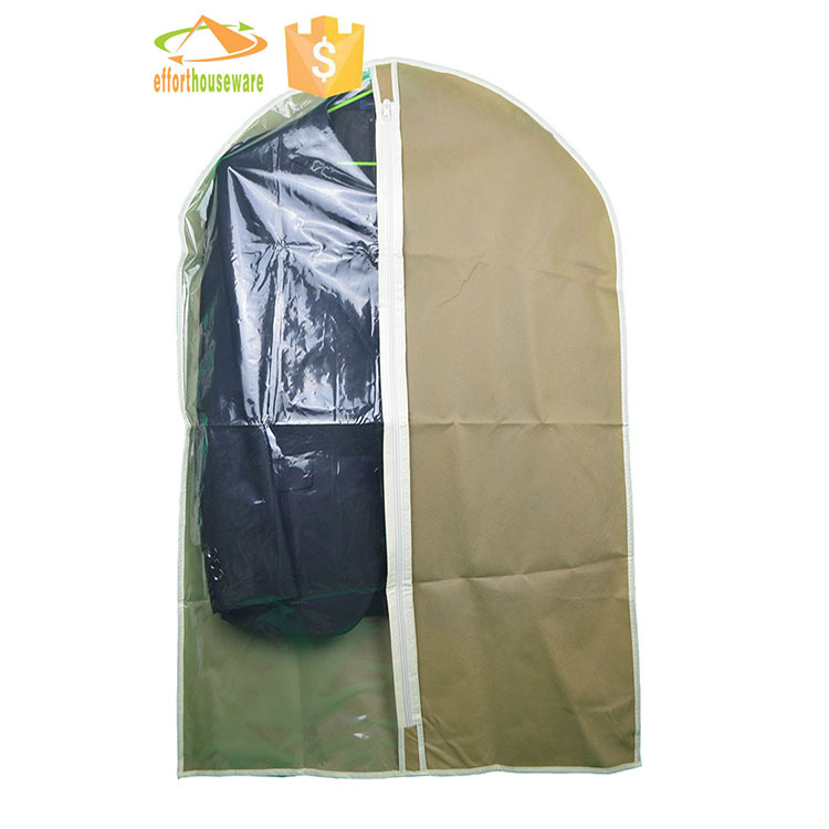 EFTSBMD014 wholesale Nonwoven fabric clear zipper bulk garment bags