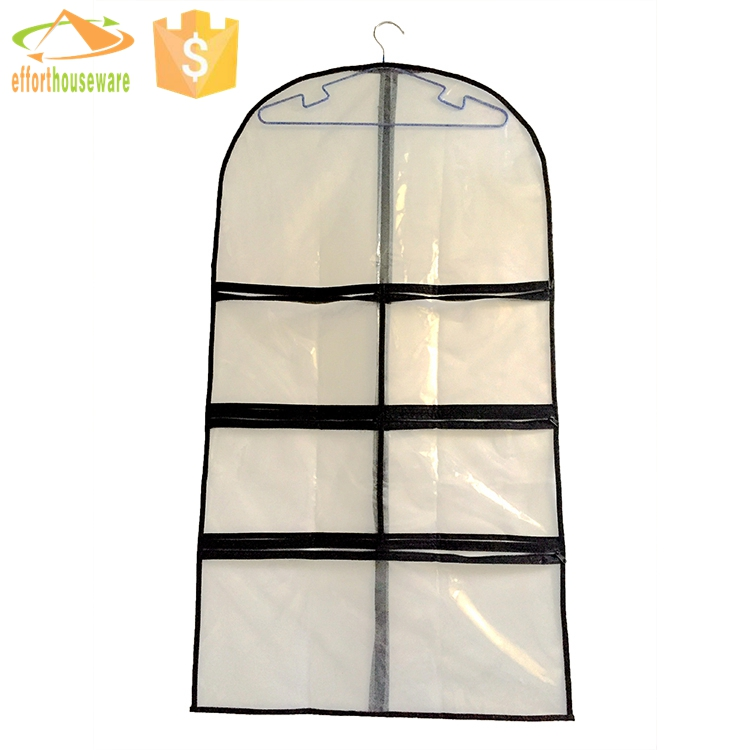 EFTSBMD019 PE zipper fabric transparent Multifunctional Garment suit bag