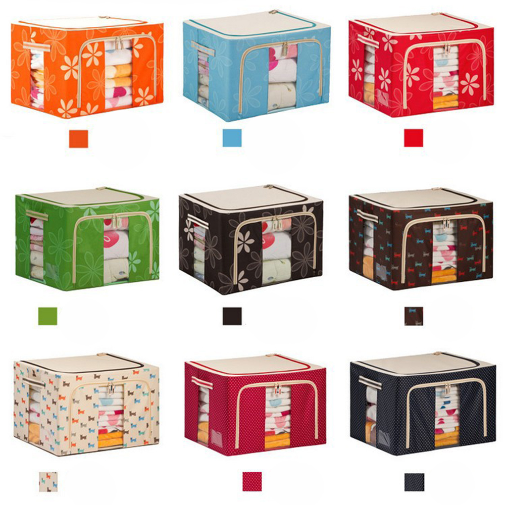 AFTHH046 Waterproof Oxford cloth storage box with metal bracket large-capacity PVC transparent window with lid