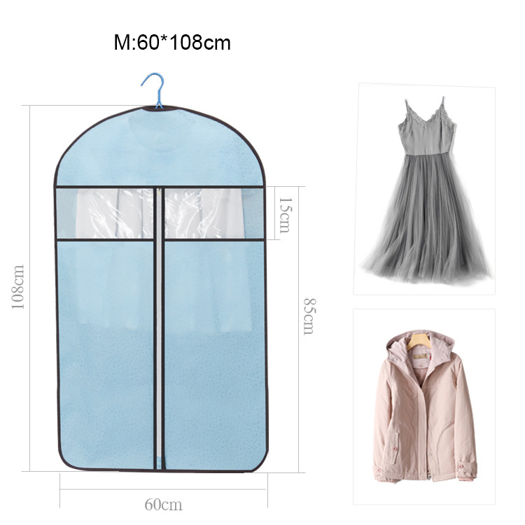 EFTSBY665 Suit Dress Garment Bag with Clear Window Zipper Pocket Long Garment Cover