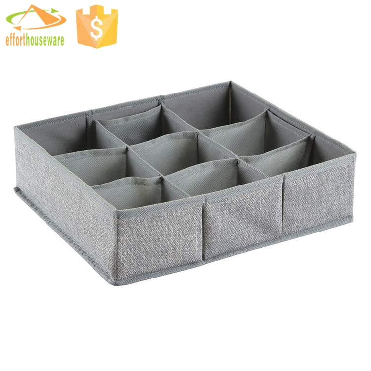 EFTSBY319 9 sections Linen like - nonwoven fabric foldable grid storage cube