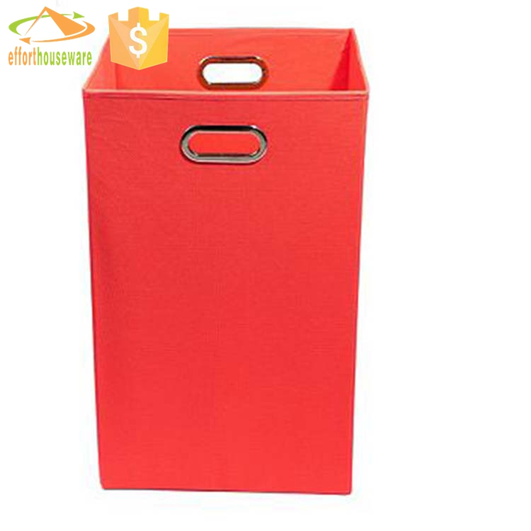 EFTSBY233 Red large distributor handmade folding laundry basket